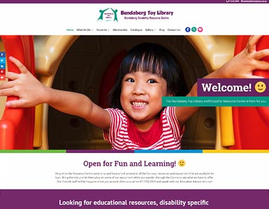 Toy Library website