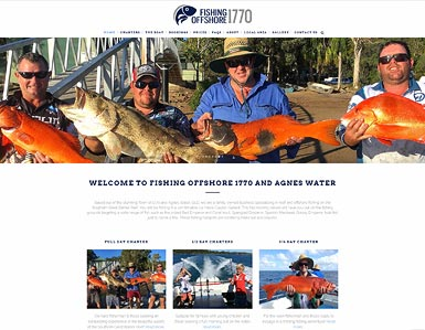 Offshore fishing Charter - website