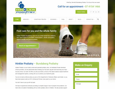 Podiatry website