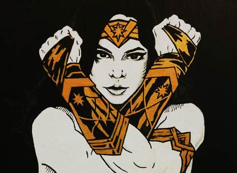 Wonder Woman - artwork - POSCA Paint Pens
