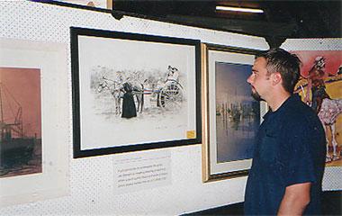 Myself standing beside this artwork- 2001